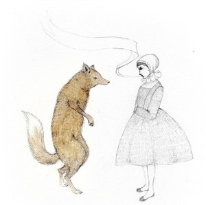 Girl_and_fox_print